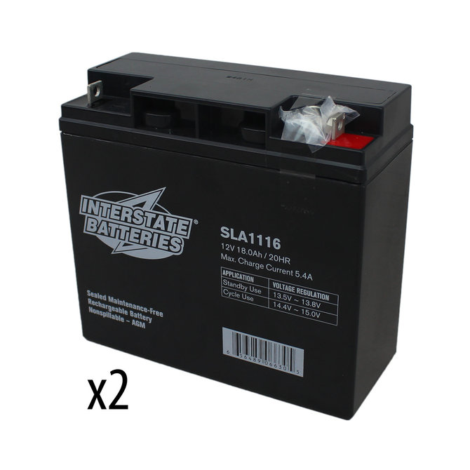 Set of 2 Batteries: Interstate Batteries