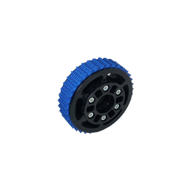4 in. Plaction Wheel with Blue Nitrile Tread