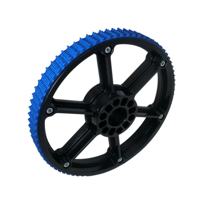 8 in. Plaction Wheel with Blue Nitrile Tread