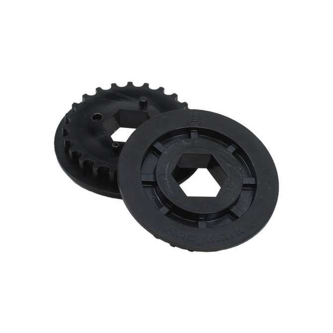 24T HTD Pulley, 1/2 in. Hex Bore