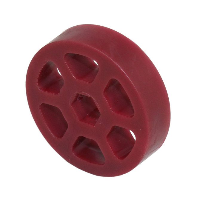 2 in. Compliant Wheel, 1/2 in. Hex Bore, 45A Durometer