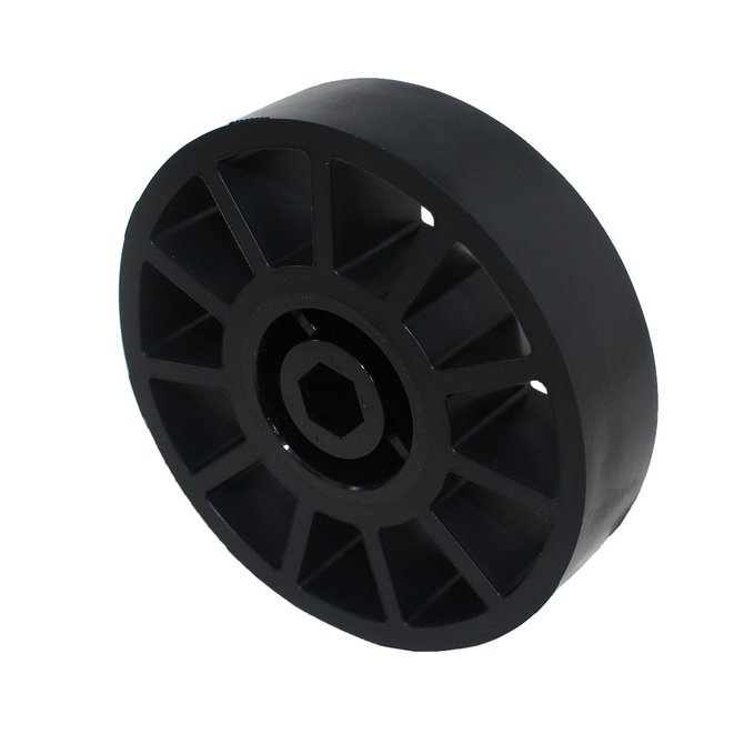 4 in. Compliant Wheel, 1/2 in. Hex Bore, 60A Durometer