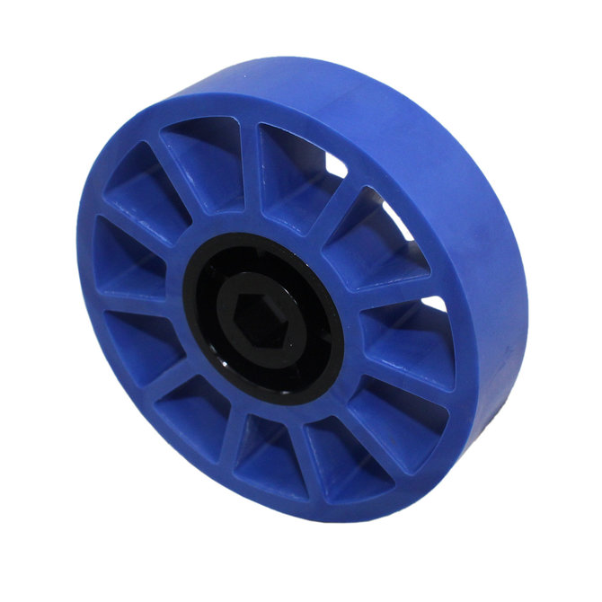 4 in. Compliant Wheel, 1/2 in. Hex Bore, 50A Durometer