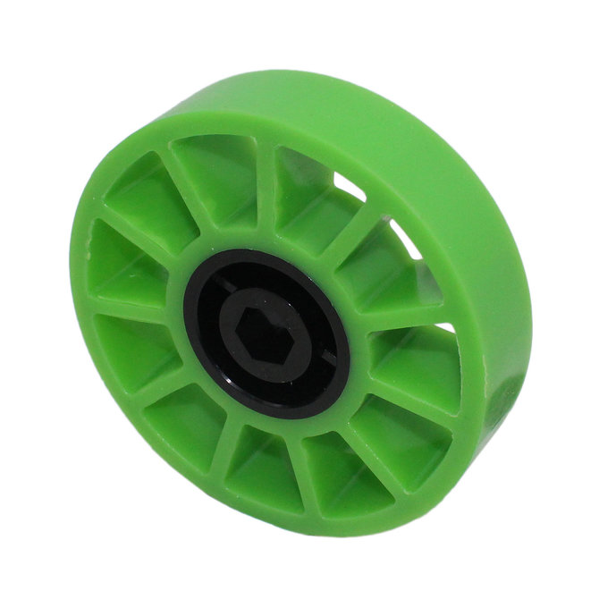 4 in. Compliant Wheel, 1/2 in. Hex Bore, 35A Durometer