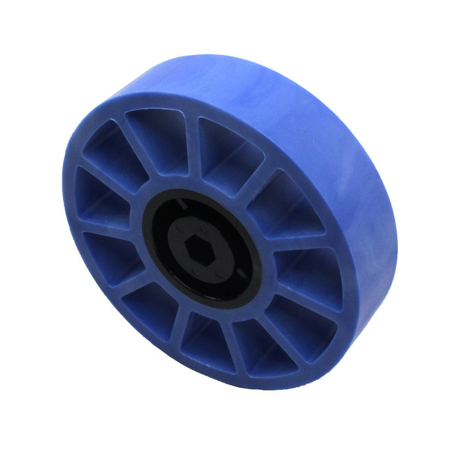 4 in. Compliant Wheel, 3/8 in. Hex Bore, 50A Durometer