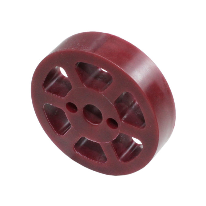 2 in. Compliant Wheel, 8mm, 45 Durometer Maroon