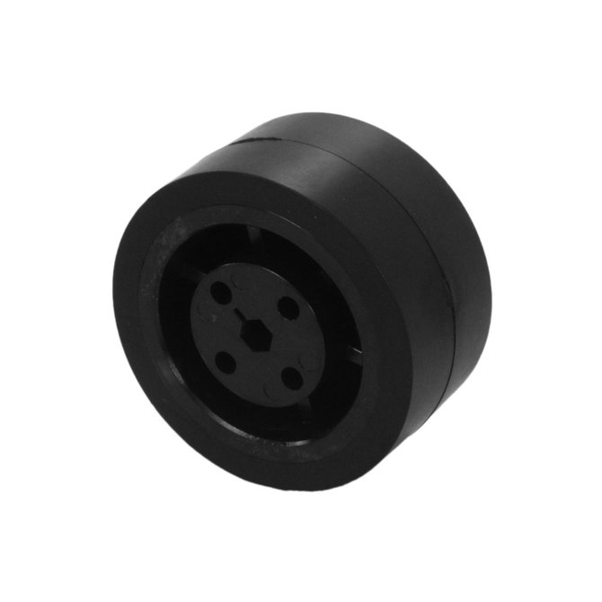 2 in. Stealth Wheel 5mm Hex, Black, 60 Durometer