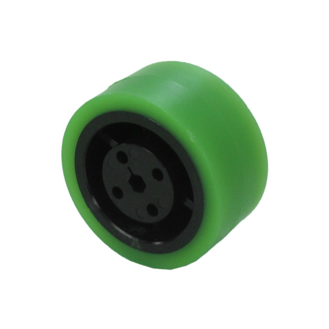 2 in. Stealth Wheel 5mm Hex, Green, 35 Durometer