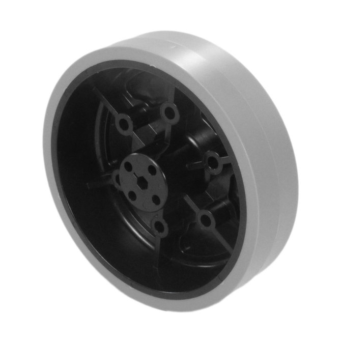4 in. Stealth Wheel with 5 mm Hex Bore, Gray, 80 Durometer