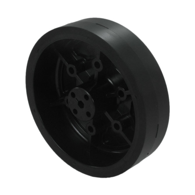 4 in. Stealth Wheel with 5mm Hex Bore, Black, 60 Durometer
