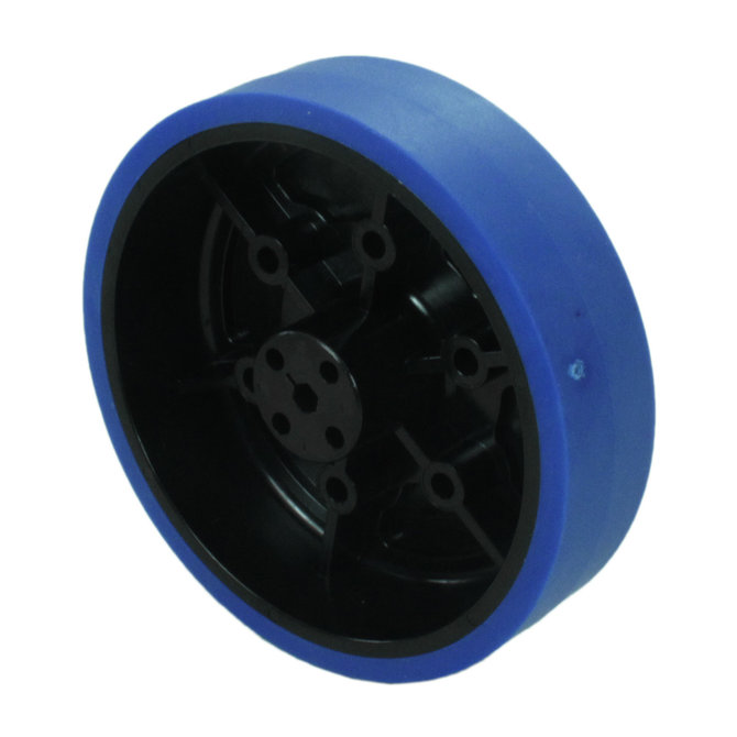 4 in. Stealth Wheel with 5mm Hex Bore, Blue, 50 Durometer
