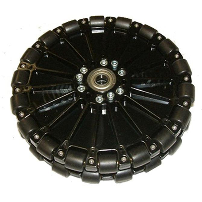 8 in. Dualie Plastic Omni Wheel w/ 1/2 in. Bearings