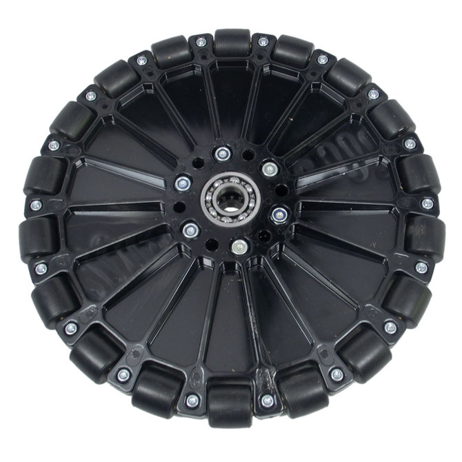 8 in. Plastic Omni Wheel with 1/2 in. Ball Bearings