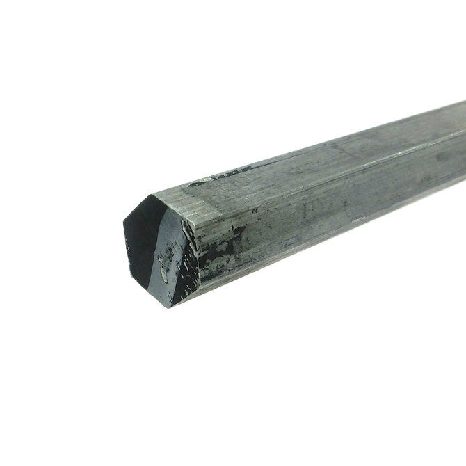 Aluminum Hex Shaft Stock, 1/2 in. width, 7075, 1', 3' or 6'